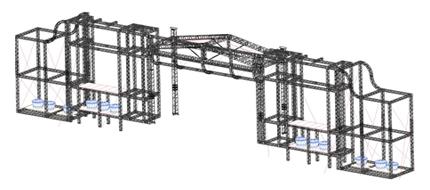 Paulínia Arena Music - Estruturas - Testeira para palco